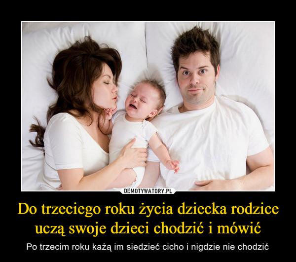 56ae771a Do trzeciego roku życia dziecka rodzice uczą swoje dzieci chodzić i mówić