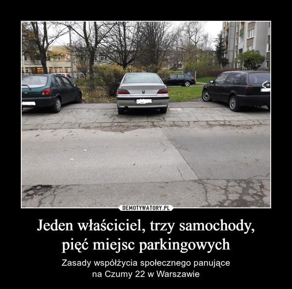 Jeden właściciel, trzy samochody,pięć miejsc parkingowych – Zasady współżycia społecznego panującena Czumy 22 w Warszawie
