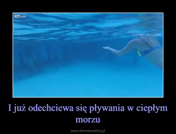 I już odechciewa się pływania w ciepłym morzu –