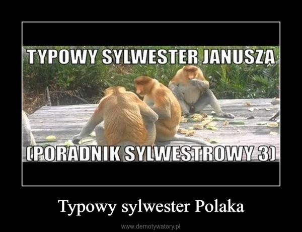 Typowy sylwester Polaka –