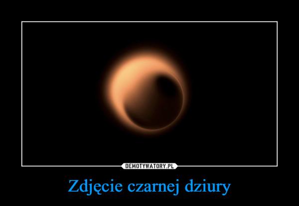 Zdjęcie czarnej dziury –