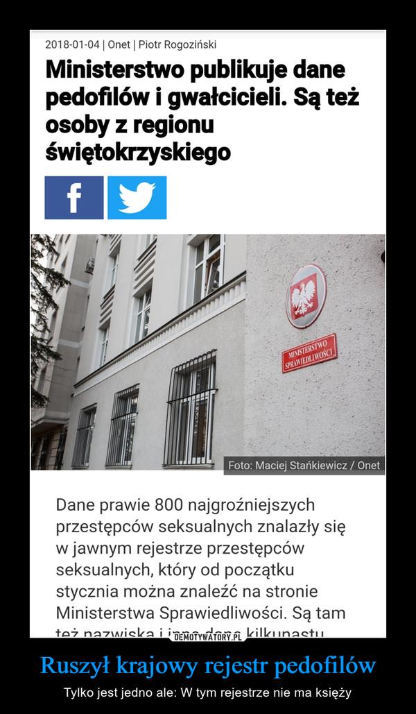 Ruszył krajowy rejestr pedofilów – Tylko jest jedno ale: W tym rejestrze nie ma księży