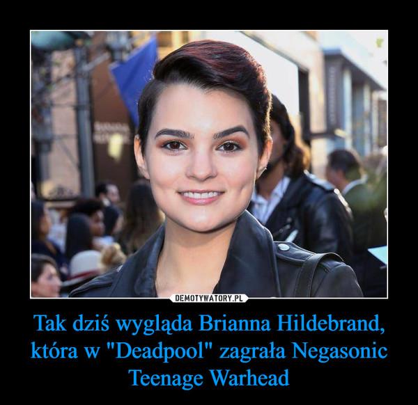 """Tak dziś wygląda Brianna Hildebrand, która w """"Deadpool"""" zagrała Negasonic Teenage Warhead –"""