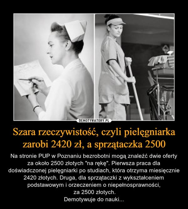 169e804bf990a3 Szara rzeczywistość, czyli pielęgniarka zarobi 2420 zł, a sprzątaczka 2500