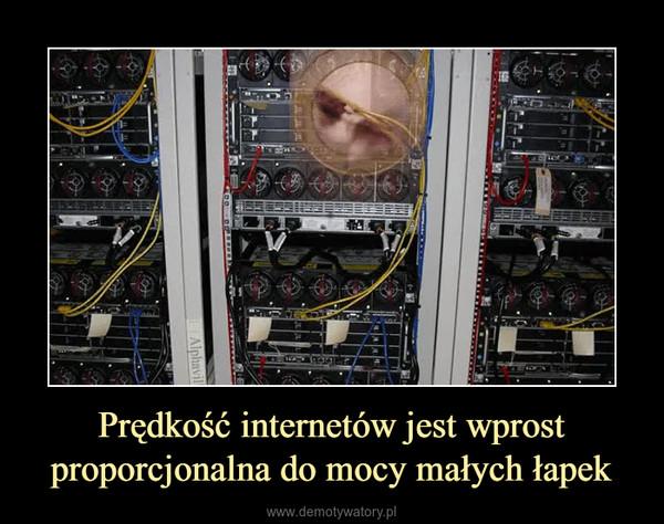 Prędkość internetów jest wprost proporcjonalna do mocy małych łapek –