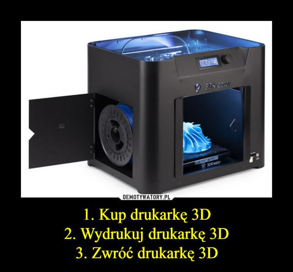 1. Kup drukarkę 3D2. Wydrukuj drukarkę 3D3. Zwróć drukarkę 3D –