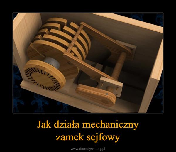 Jak działa mechanicznyzamek sejfowy –