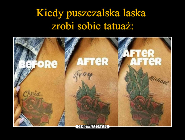 –  Chris Troy MichaelBefore after after after
