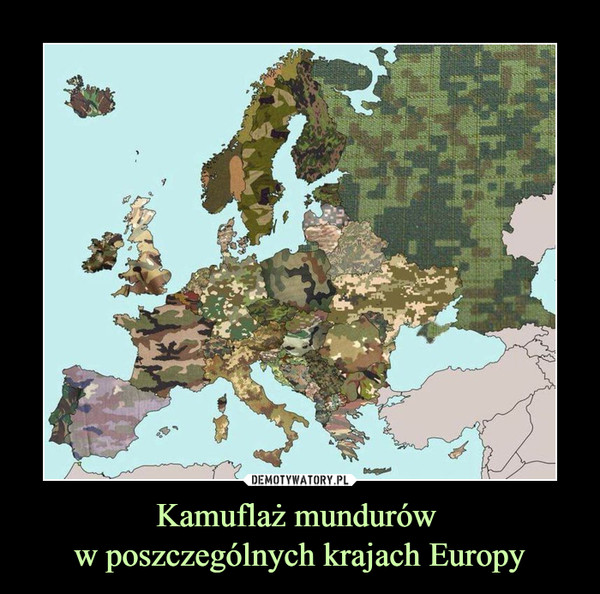Kamuflaż mundurów w poszczególnych krajach Europy –