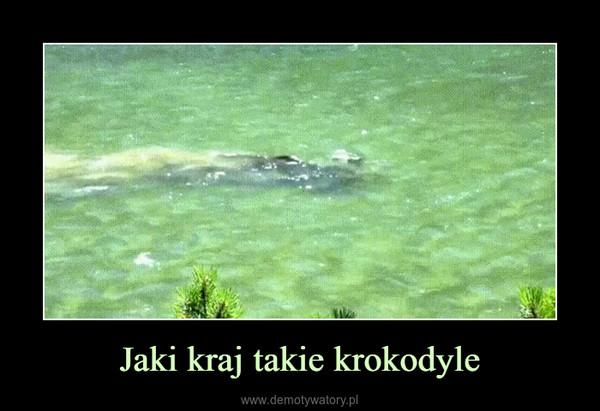 Jaki kraj takie krokodyle –