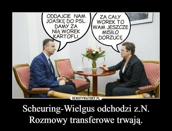 Scheuring-Wielgus odchodzi z.N. Rozmowy transferowe trwają. –