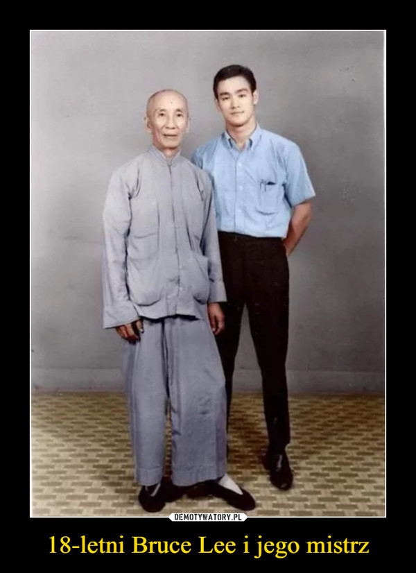 18-letni Bruce Lee i jego mistrz –