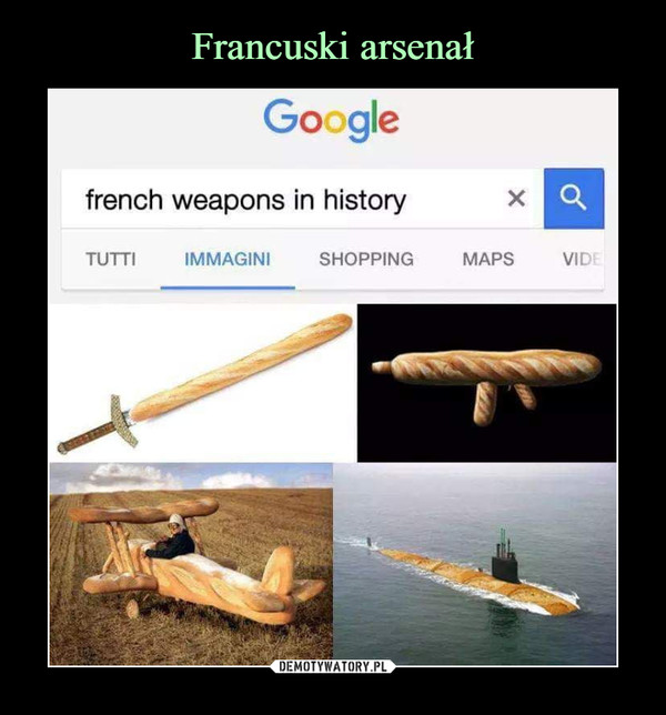 –  Google french weapons in history