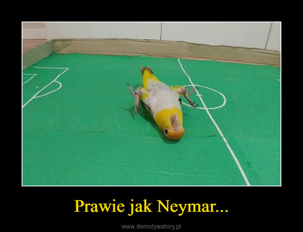 Prawie jak Neymar... –