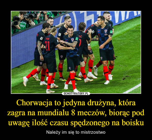 Chorwacja to jedyna drużyna, która zagra na mundialu 8 meczów, biorąc pod uwagę ilość czasu spędzonego na boisku – Należy im się to mistrzostwo