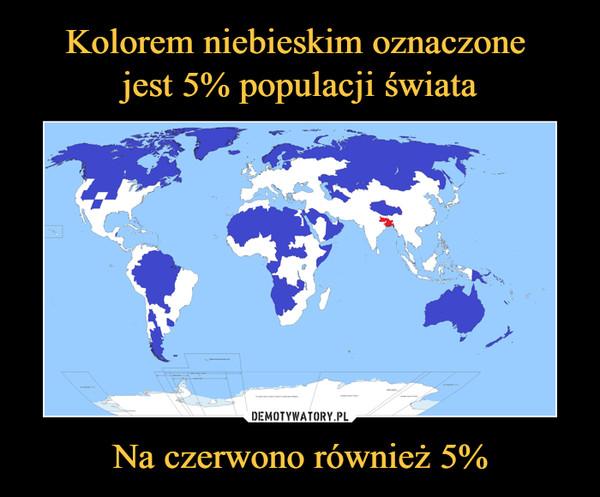 Na czerwono również 5% –