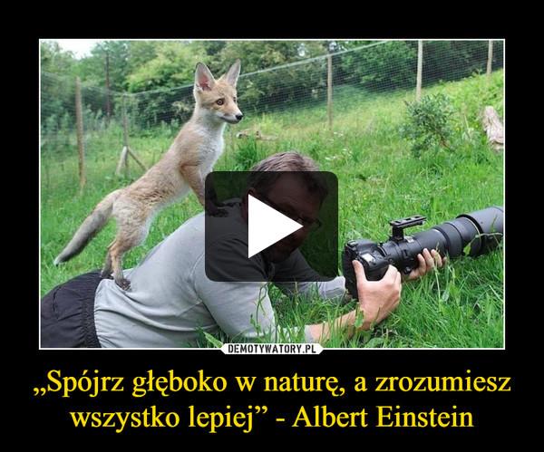 """""""Spójrz głęboko w naturę, a zrozumiesz wszystko lepiej"""" - Albert Einstein –"""