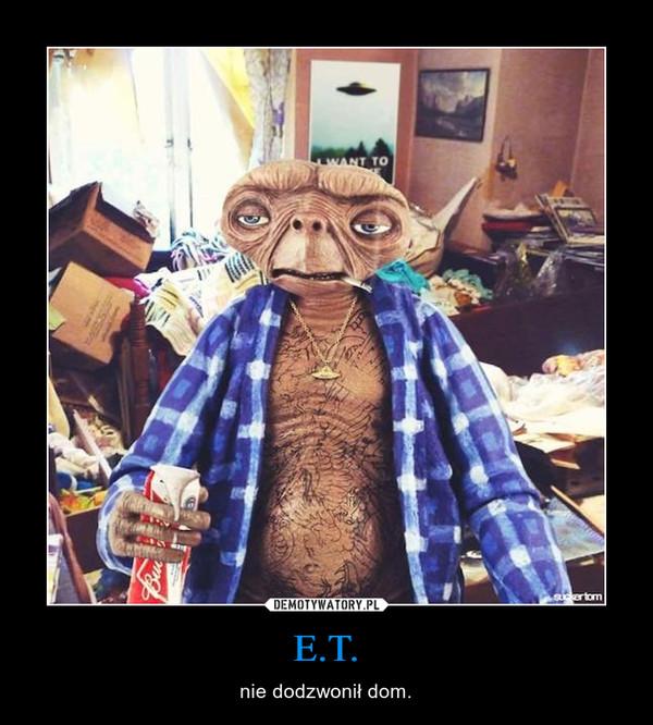E.T. – nie dodzwonił dom.