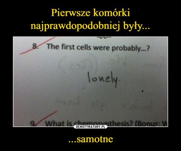 ...samotne –