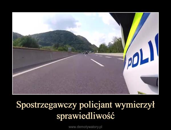 Spostrzegawczy policjant wymierzył sprawiedliwość –