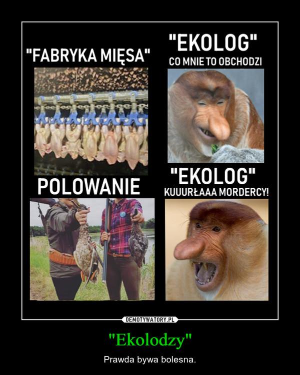 """""""Ekolodzy"""" – Prawda bywa bolesna."""