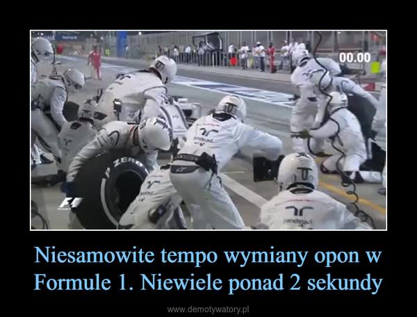 Niesamowite tempo wymiany opon w Formule 1. Niewiele ponad 2 sekundy –