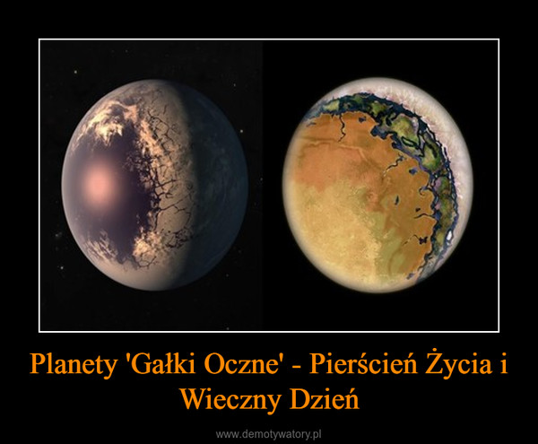 Planety 'Gałki Oczne' - Pierścień Życia i Wieczny Dzień –