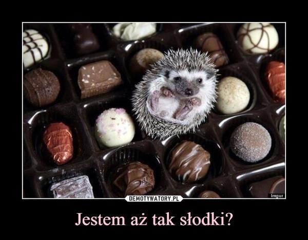Jestem aż tak słodki? –