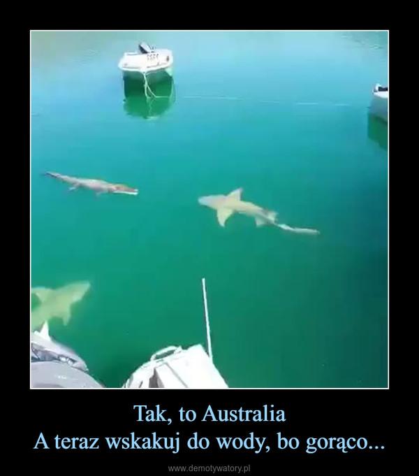 Tak, to AustraliaA teraz wskakuj do wody, bo gorąco... –