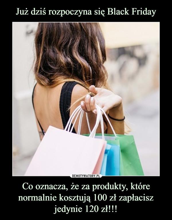 Co oznacza, że za produkty, które normalnie kosztują 100 zł zapłacisz jedynie 120 zł!!! –
