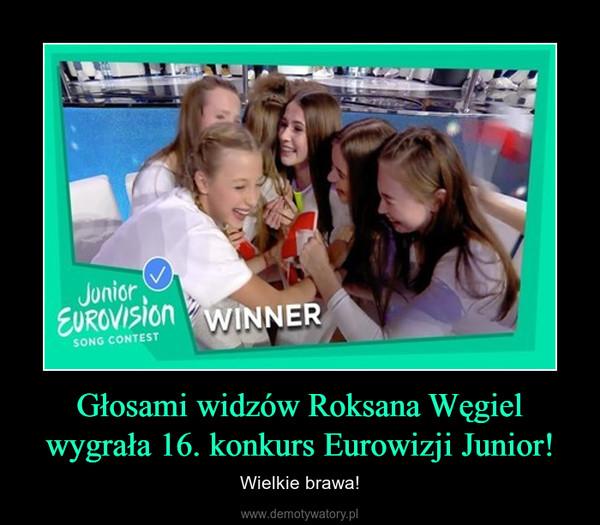 Głosami widzów Roksana Węgiel wygrała 16. konkurs Eurowizji Junior! – Wielkie brawa!