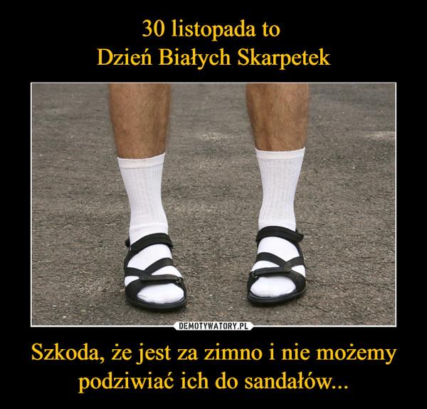 Szkoda, że jest za zimno i nie możemypodziwiać ich do sandałów... –