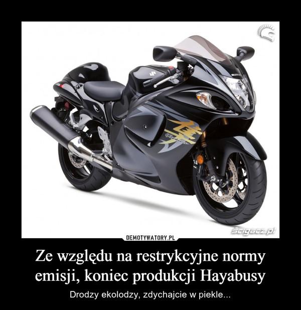 Ze względu na restrykcyjne normy emisji, koniec produkcji Hayabusy – Drodzy ekolodzy, zdychajcie w piekle...