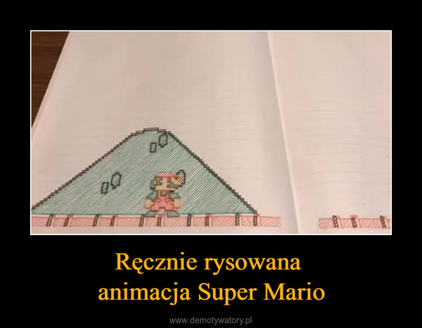 Ręcznie rysowana animacja Super Mario –