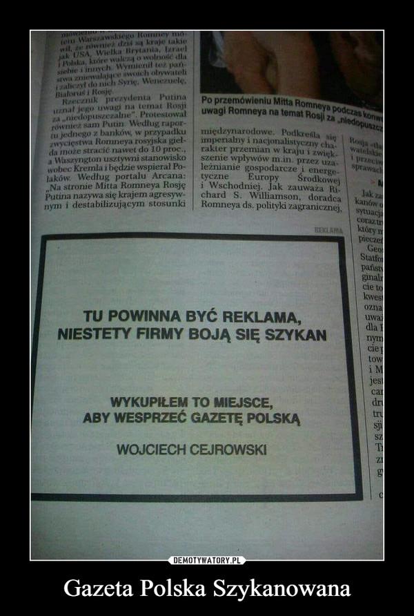 Gazeta Polska Szykanowana