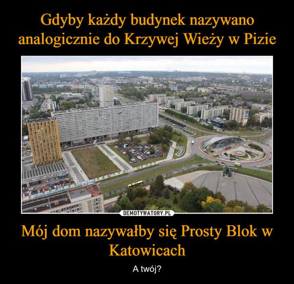 Mój dom nazywałby się Prosty Blok w Katowicach – A twój?
