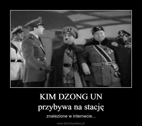 KIM DZONG UNprzybywa na stację – znalezione w internecie...