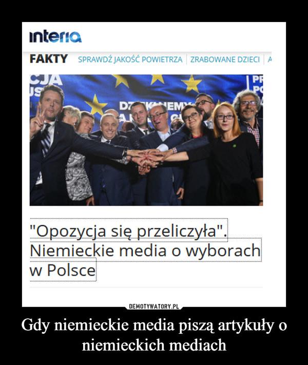Gdy niemieckie media piszą artykuły o niemieckich mediach –