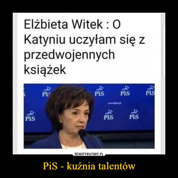 PiS - kuźnia talentów –  Elżbieta Witek : O Katyniu uczyłam się z przedwojennych książek