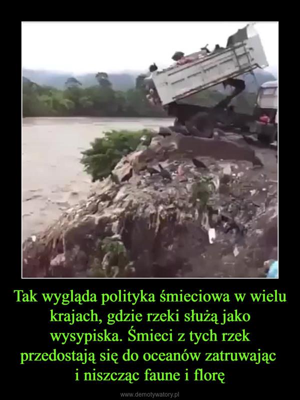 Tak wygląda polityka śmieciowa w wielu krajach, gdzie rzeki służą jako wysypiska. Śmieci z tych rzek przedostają się do oceanów zatruwając i niszcząc faune i florę –