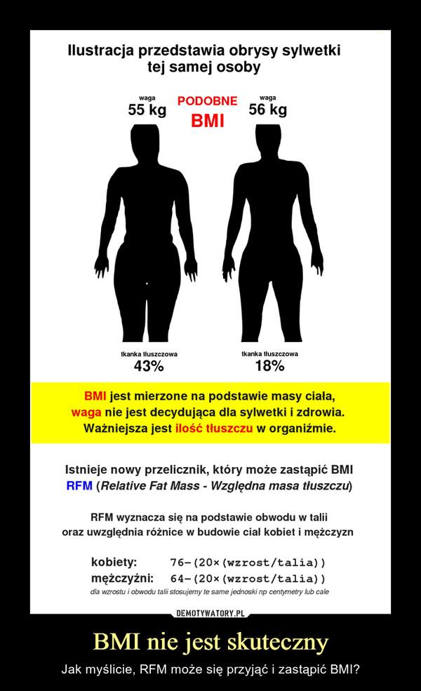 BMI nie jest skuteczny – Jak myślicie, RFM może sięprzyjąći zastąpić BMI?