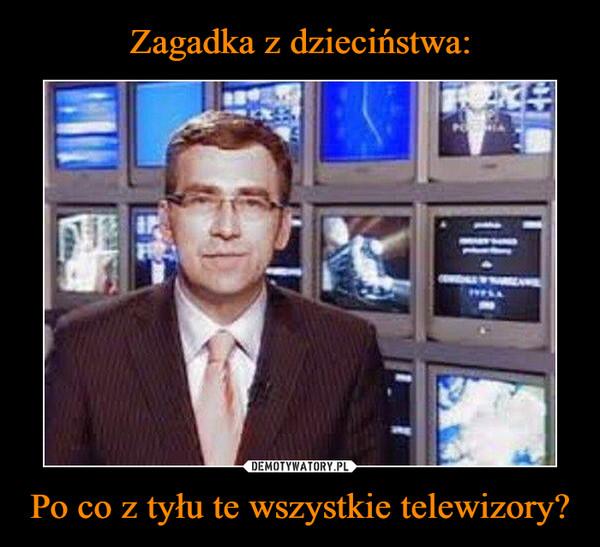 Po co z tyłu te wszystkie telewizory? –