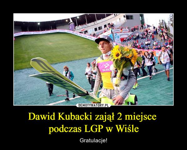 Dawid Kubacki zajął 2 miejsce podczas LGP w Wiśle – Gratulacje!