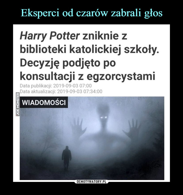 –  Harry Potter zniknie zbiblioteki katolickiej szkoły.Decyzję podjęto pokonsultacji z egzorcystami