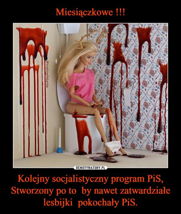 Kolejny socjalistyczny program PiS, Stworzony po to  by nawet zatwardziałe lesbijki  pokochały PiS. –