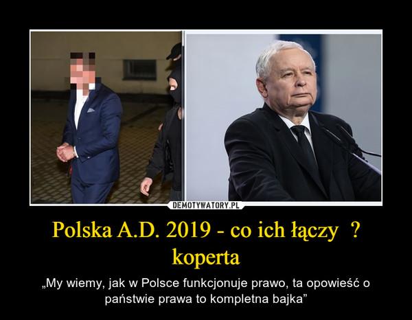 """Polska A.D. 2019 - co ich łączy  ? koperta – """"My wiemy, jak w Polsce funkcjonuje prawo, ta opowieść o państwie prawa to kompletna bajka"""""""