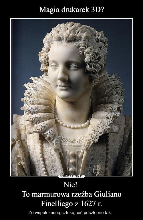 Magia drukarek 3D? Nie!  To marmurowa rzeźba Giuliano Finelliego z 1627 r.