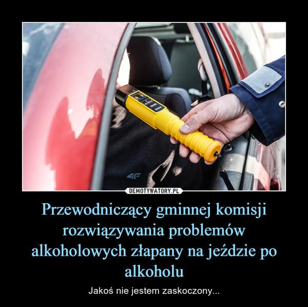 Przewodniczący gminnej komisji rozwiązywania problemów alkoholowych złapany na jeździe po alkoholu – Jakoś nie jestem zaskoczony...