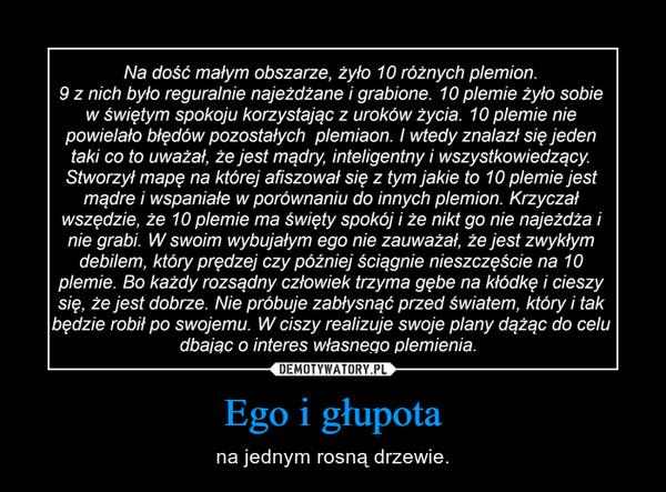 Ego i głupota – na jednym rosną drzewie.