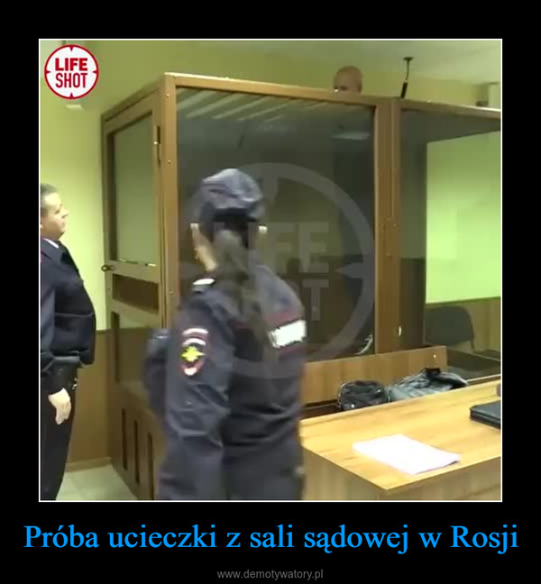 Próba ucieczki z sali sądowej w Rosji –